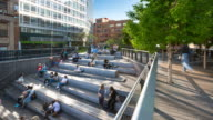 Time Lapse of people sitting in High Line amphitheater