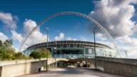 LONDON - CIRCA 2012: Time lapse of people walking near Wembley Stadium in London circa 2012