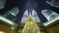 Time lapse of Petronas Twin Towers at Night
