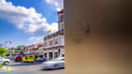Time lapse of Phuket Clock tower buildings,Dolly Shot