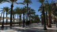 Time Lapse of Promenade in Alicante city. Spain