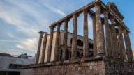Time lapse of roman monuments Diana temple