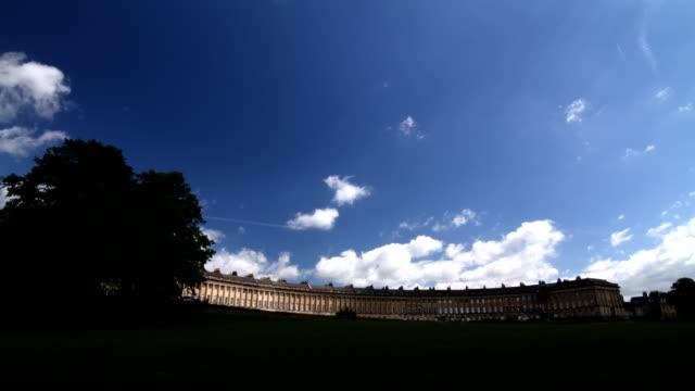 Time Lapse of Royal Crescent, Bath UK