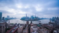 Time lapse of Shanghai night to day transition