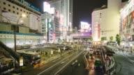 Zeitraffer von Shibuya-Busbahnhof