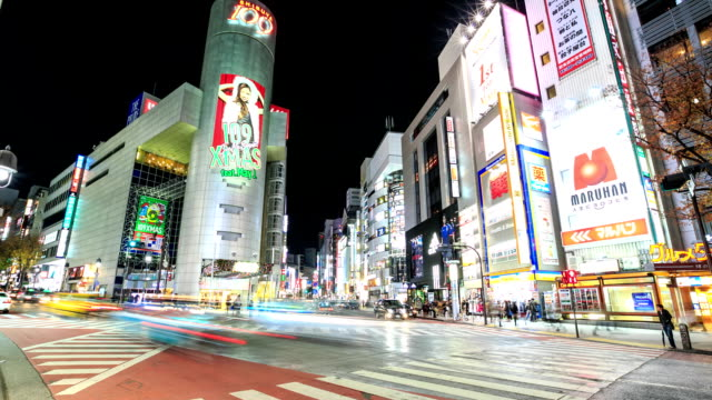 Time lapse of Shibuya crossing