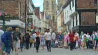 Time lapse of shoppers and tourists in York.