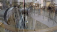 Time lapse of shoppers in a mall