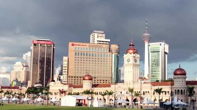 Time lapse of sunset over Kuala Lumpur