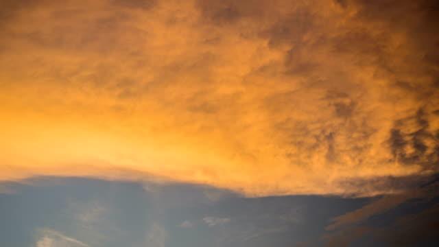 4K Time lapse of Sunset sky.
