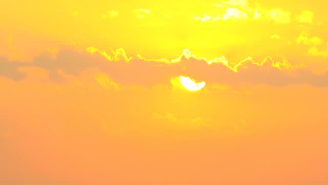 Time lapse di tramonto
