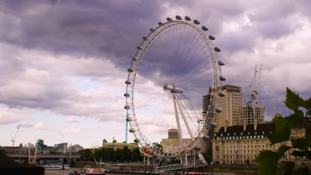 Time lapse of the London Eye and the River Thames.