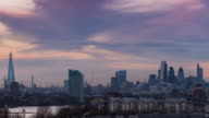 LONDON: Time Lapse of the London Skyline from day to night