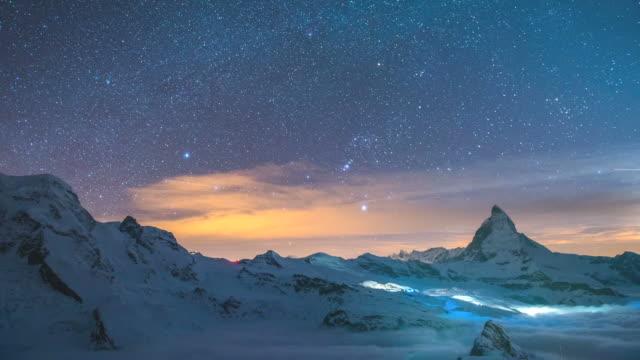 Zeitraffer des das Matterhorn, Schweiz