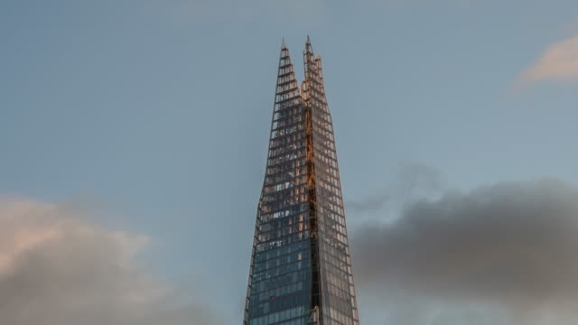 Time Lapse of the very tip of the Shard, London, UK.