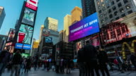 Time Lapse of Times Square at Dusk, New York City