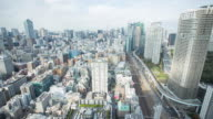Time lapse of Tokyo cityscape