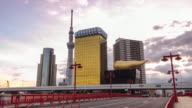 Time lapse of Tokyo skyline