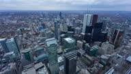 TORONTO - CIRCA 2014: Time Lapse of Toronto Finance District from the CN Tower in a cloudy day
