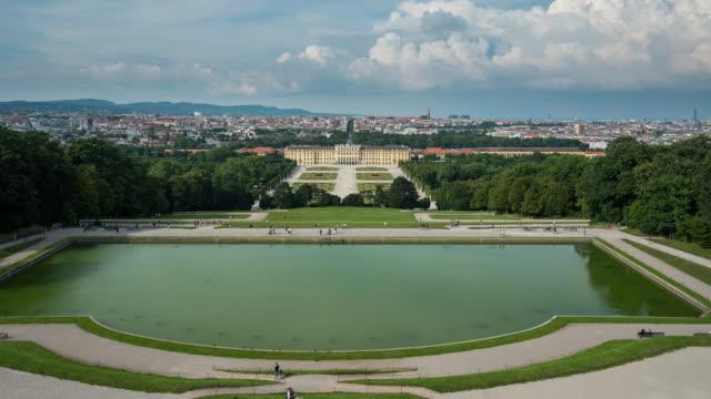 Time Lapse of Tourist waking at Schönbrunn Palace, Vienna, Austria