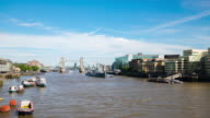 LONDON: Time Lapse of Tower Bridge on a sunny day