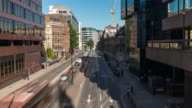 LONDON: Time Lapse of Traffic and people in a busy street of London