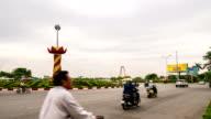 Zeitraffer des Verkehrs im Kreis, Vietnam