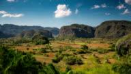 Time lapse of Valle De Vinales in Cuba