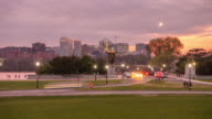 Time lapse of Washington, DC  with the Rosslyn, Arlington, Virginia skyline