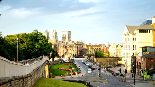 Time lapse of York Minster in the city of York, England