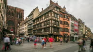 4K Time Lapse : Old Town architecture with Strasbourg Minster