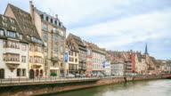 4k Zeitraffer: Altstadt in Straßburg
