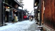 HD Time Lapse : Old town Yamanouchi