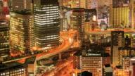 4K Time Lapse : Osaka, Japan at sunset
