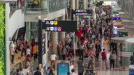 Time Lapse : Pedestrian in airport arrival zone