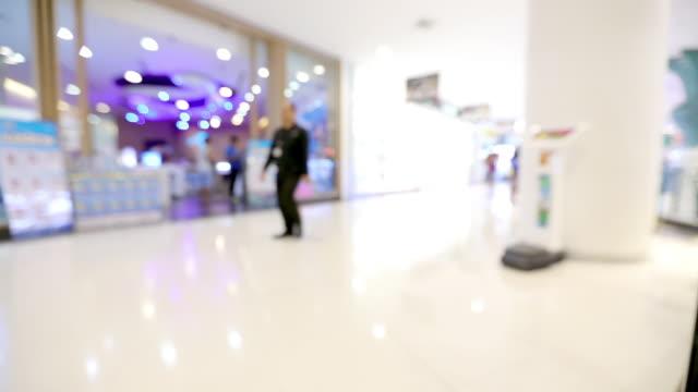 tijd lapse mensen shopping mall