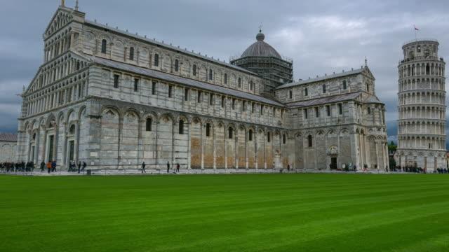 Zeitraffer: Pisa Kathedrale (Duomo di Pisa) in Piazza dei Miracoli in Pisa, Italien