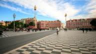 4K Time Lapse : Place Massena in Nice