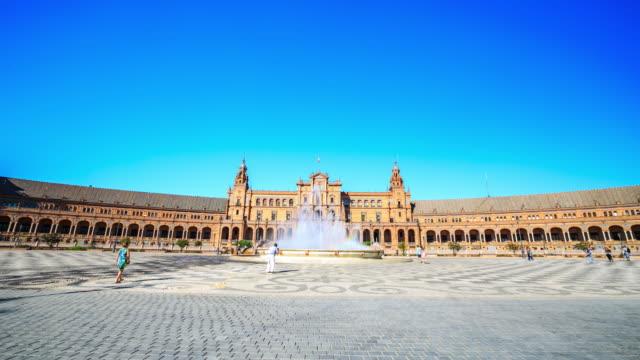 4K Time Lapse : Plaza de Espana Seville
