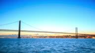 4K Time Lapse :Ponte 25 de Abril bridge in Lisbon