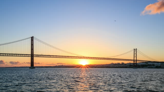4K Time Lapse :Ponte 25 de Abril bridge in Lisbon