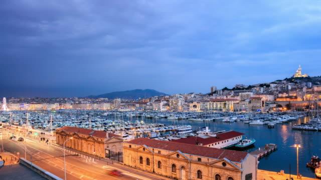 Intervallo di tempo 4k: porto di Marsiglia
