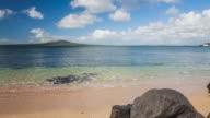 Time Lapse Rangitoto Island, from Takapuna Beach, Auckland, New Zealand.