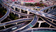 Time Lapse - Road Intersection in Shanghai (Panning)