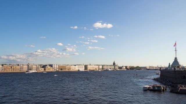 Time Lapse-San Pietroburgo fiume Neva con