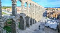 4K Time Lapse : Segovia aqueduct