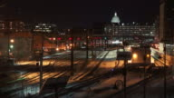 Time lapse sequence of Washington DC at night