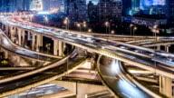 Time Lapse - Shanghai Highway at Night