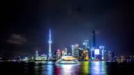Time Lapse - Shanghai Skyline at Night