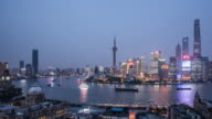 Time Lapse - Shanghai Skyline From Day to Night (Panning)